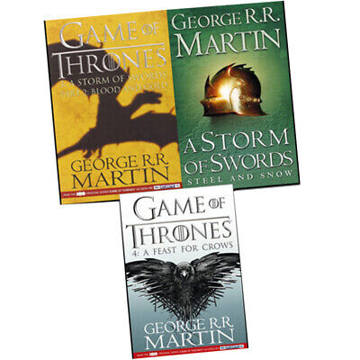 George R. R.Martin A Song of Ice and Fire Collection Game Of Thrones 3 Books Set