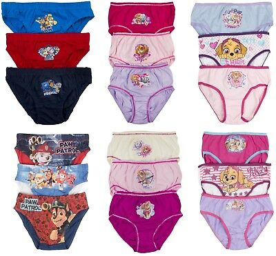 Boys Girls Toddlers 3 Pack Nickelodeon Paw Patrol Underwear Briefs Knickers Size