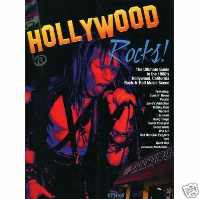 Hollywood Rocks Book (Hardcover) Rock N Roll / Hair Metal / Guns & Roses SunSet