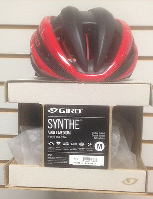 Giro Synthe Blk/red Cycling Helmet