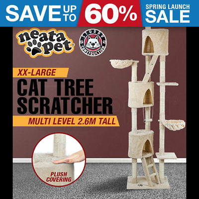 NEW! XX-LARGE NEATAPET Cat Tree House Scratching Post Pole Furniture Scratcher