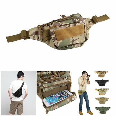 Military Tactical Outdoor Waist Pack Shoulder Bag Molle Camping Hiking Pouch Bag