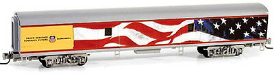 Micro-Trains MTL Z-Scale Baggage Passenger Car Union Pacific/UP Heritage/Flag