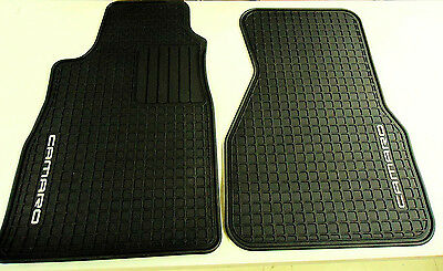 93 02 Camaro Coupe Floor Mats All Weather Front Set Black Gm New 12495267 55 00 Picclick