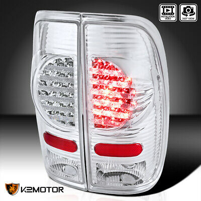 97-03 Ford F150 F250 Sd Truck Led Rear Tail Lights New Generation Lamp Smoke Red