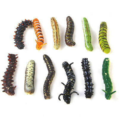 12pc Plastic Caterpillar Worm Insects Toy Kids Party Goody Loot Bag Filler Favor