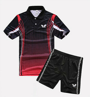 2015 Butterfly men's table tennis clothing / Badminton Set T-shirt + shorts 4455