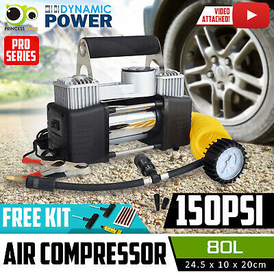 12V Air Compressor Tyre Deflator Inflator 4WD 4x4 Car Truck Compact Portable