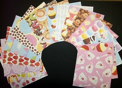 "*CAFE* Colourful Fun Scrapbooking /Cardmaking Papers x 18 - 15cmx15cm (6"" x 6"")"