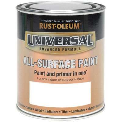 Rust-Oleum Universal All Surface Brush Paint and Primer White Satin - 250ml