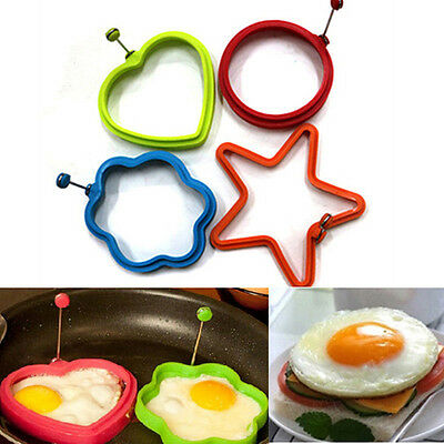 Silicone Egg Frying Rings Fry Fried Poacher Mould Perfect For Pancakes Ring