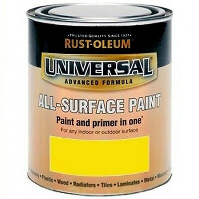 Rust-Oleum Universal All Surface Brush Paint & Primer Canary Yellow Gloss 750ml
