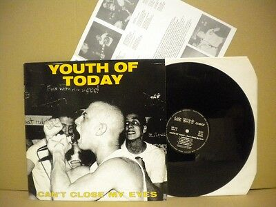 Youth Of Today Can't Close My Eyes We Bite Records 052 Lp  1988 + Insert