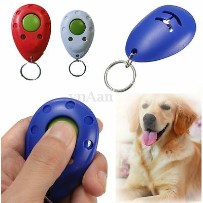 Dog Pet Puppy Cat Training Click Clicker Trainer Obedience Aid Guide Keyring