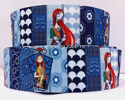 38mm wide NIGHTMARE BEFORE CHRISTMAS SALLY GROSGRAIN RIBBON - 1 YARD - Crafts