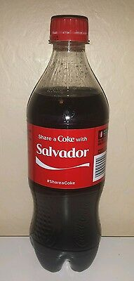 Share a Coke with Salvador - 20 oz Bottle - New, Sealed - 2015 - Coca Cola