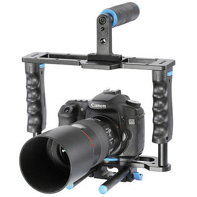 Neewer Aluminum Camera Video Cage Movie Kit f Canon/Nikon & other DSLR Camera