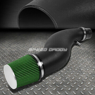 "For Civic Eg Eh Ej Em 6"" Flared Piping Short Ram Air Intake System+Green Filter"