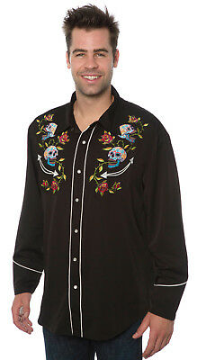 Benny's Mens Day of the Dead Western Shirt