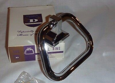 NEW Vtg Mid Century Chrome Towel Ring Donner #586 New Old Stock NO Mounting Hdw