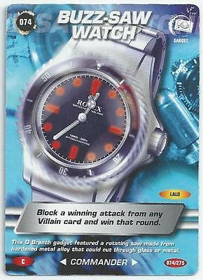 James Bond 007 - Spy Cards - Common Card 074 - Buzz-Saw Watch (Apju)
