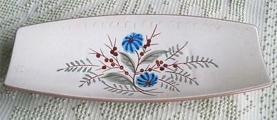 1960's Stangl Pottery Hand Painted Blue Daisy Bread Tray