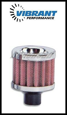 "Vibrant 2164 Crankcase Breather Filter w/ Chrome Cap - 3/4"" (19mm) Inlet I.D."