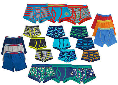 Kids Boys Boxer Shorts 3 Pairs Pack Childrens Cotton Blend Underwear Trunks Size