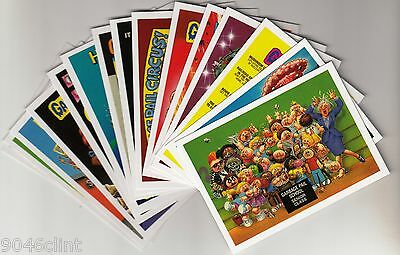 Garbage Pail Kids 30Th Anniversary Complete 80'S Sticker Set 15/15 Exclusive Gpk