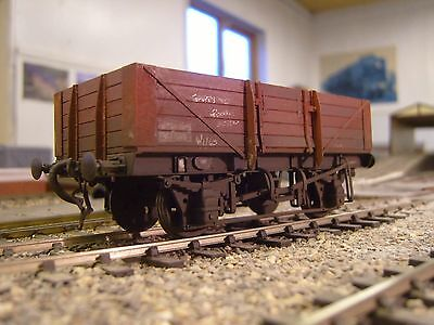 """""""0"""" Gauge Brass Etched 5 Plank Open Wagon Kit"""