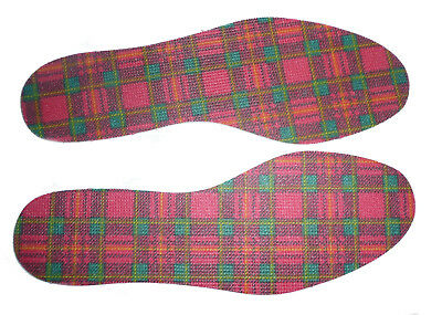 Tartan Insoles for LADIES available in sizes 3 to 8