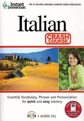 Fast Easy CRASH COURSE Learn ITALIAN Language (3 Audio CDs) listen in your car