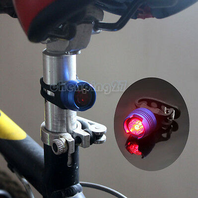 Quick Release Blue Bike Bicycle Red LED Rear Light 3 modes Tail Lamp Waterproof