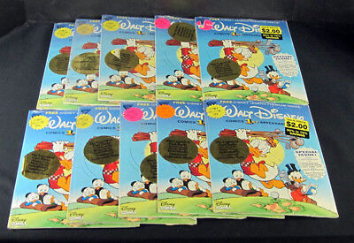 (10) 1992 Donald And Scrooge Comic Books & (10) Gladstone Disney 1st Appearance