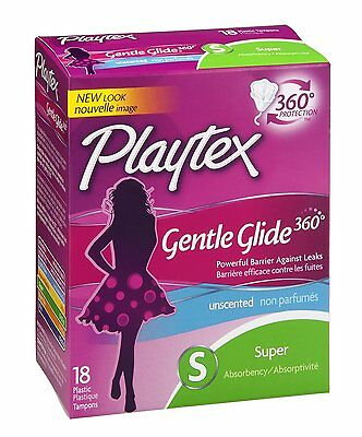 Playtex Tampon Gentle Glide 360 Super Unscented 18ct