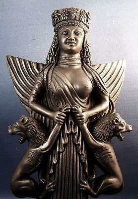 Anahita Lady of the Beasts Middle Eastern Persian Lion Goddess Statue #LB