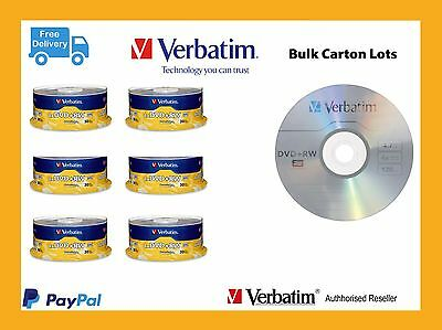 ($0 P & H) Carton Lots Verbatim Rewritable DVD+RW 30 Pk Dis 4xspeed  Pn: 94834