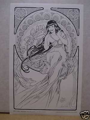Maria Cervantes: Betty Page Mucha Style Print (signed) (USA)