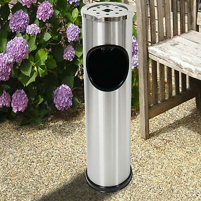 Free Standing Stainless Steel Outdoor Dust Rubbish Bin Cigarette Ashtray Stand