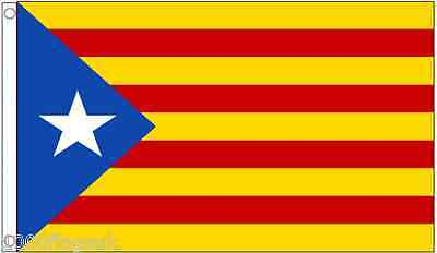 Spain Catalonia Estelada Lone Star Separatists 5'x3' Flag