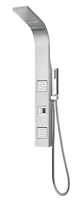 "39"" Stainless Steel Waterfall Shower Panel Body Massage Wall Mount System"
