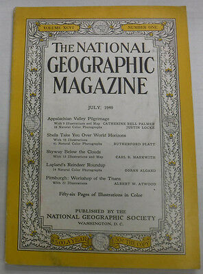 National Geographic Magazine Appalachian Valley & Lapland July 1949 081115R