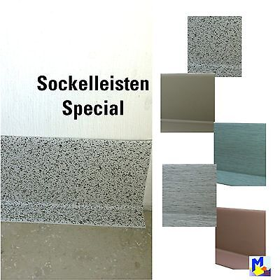 Special Colors Soft PVC Skirting board Knick Profile Plastic 2x0.6in ,80