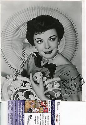 Ida Lupino Autograph The Twilight Zone Actress Signed Photo Jsa Authenticated