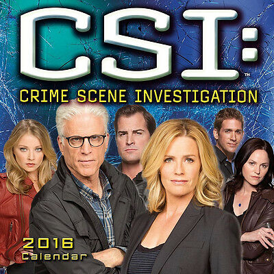 CSI: Crime Scene Investigation TV Series 16 Month 2016 Photo Wall Calendar NEW