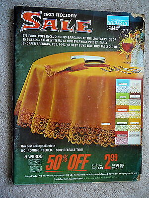 MONTGOMERY WARDS - 1973 CHRISTMAS HOLIDAY SALE CATALOG - 148 Pages BEST BUYS