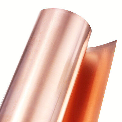 99.9% Pure Copper Cu Metal Sheet Plate Foil Roll Tape 0.2mm*100mm*1000mm