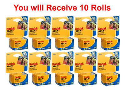 10 Rolls Kodak Ultramax 400 35mm Film GC 135-24 Exp GOLD Color Print 2/2021