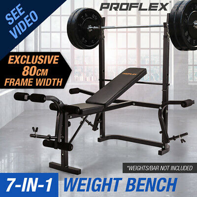 【20%OFF】Proflex 7in1 Weight Bench Press Multi-Station Home Gym Leg Curl
