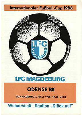 IFC 09.07.1988 1. FC Magdeburg - Odense BK